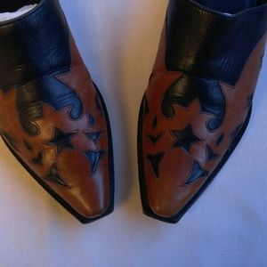 Charlie Horse Shoes - Charlie Horse Western Brown and Black Mules